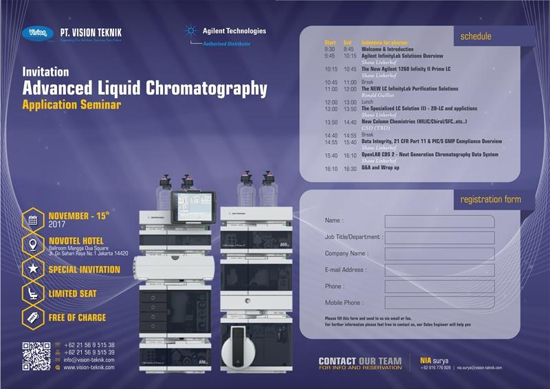 Advanced Liquid Chromatography Application Seminar