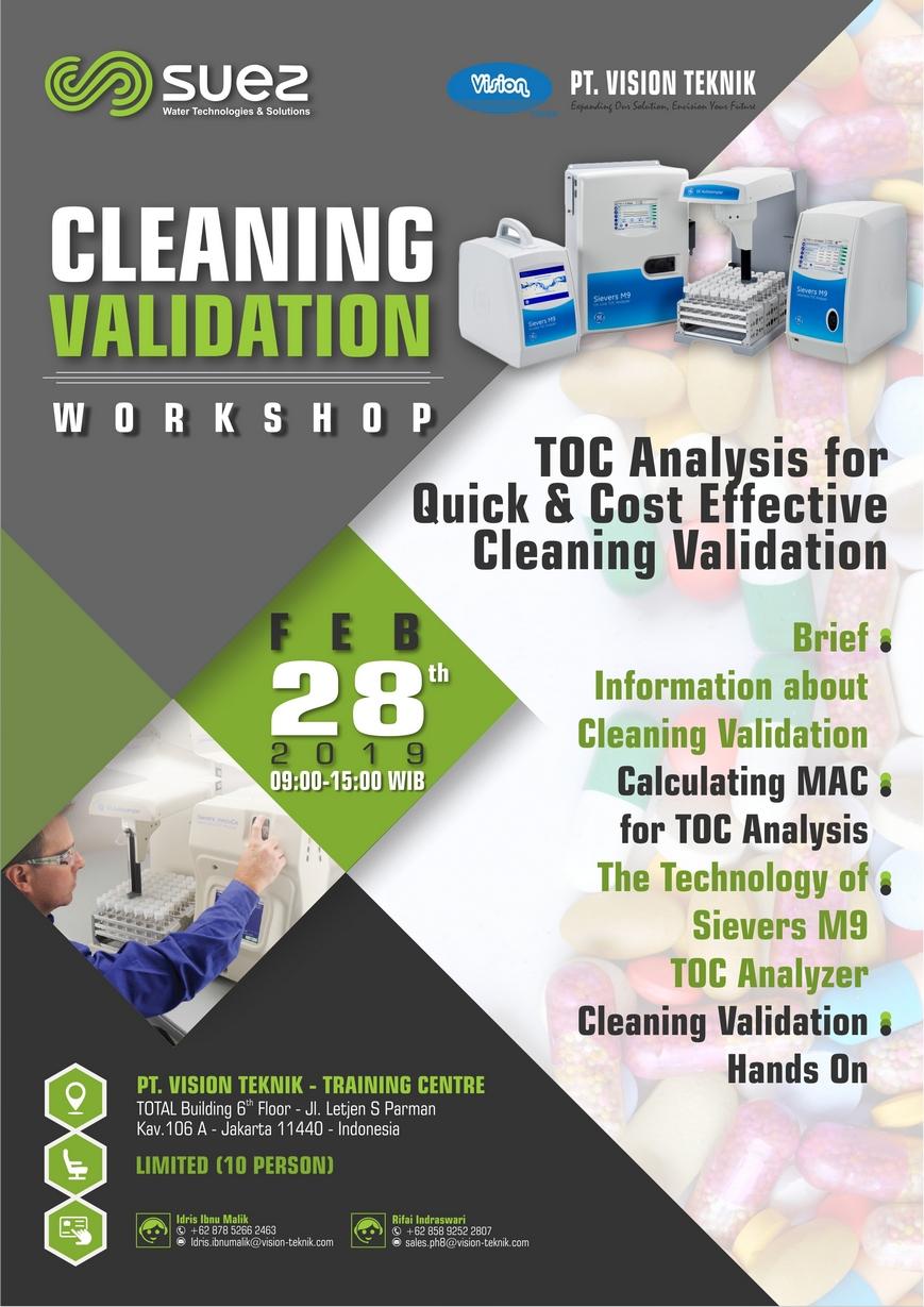 Workshop Cleaning Validation 2019