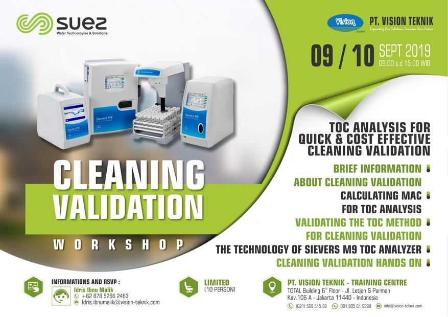 Workshop Cleaning Validation Sept 2019