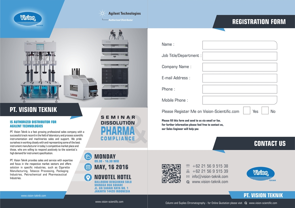 Seminar Dissolution and Pharma Compliance 2016