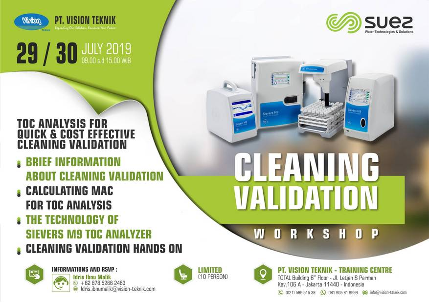 Workshop Cleaning Validation July 2019